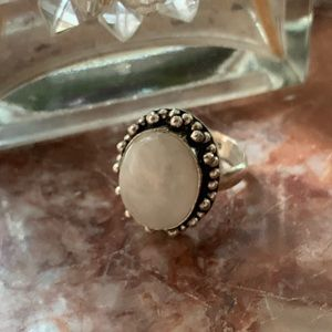 STERLING MOTHER OF PEARL RING 8